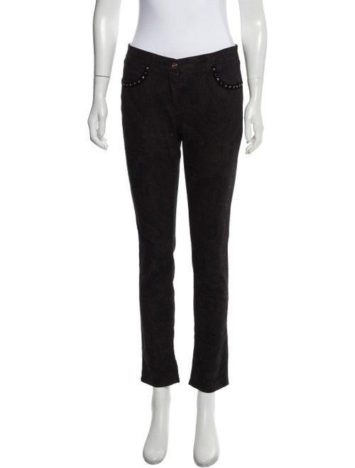 Etro Printed Mid-Rise Jeans Black