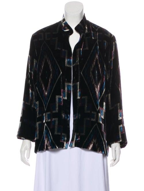 Etro Printed Velvet Jacket Black