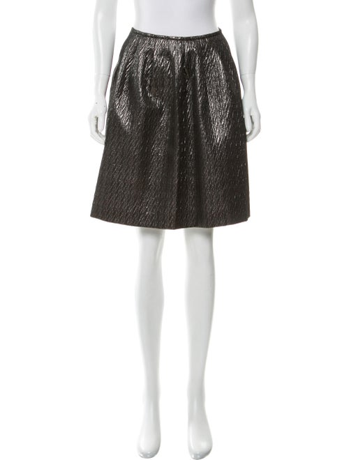 Etro Metallic Knee-Length Skirt metallic