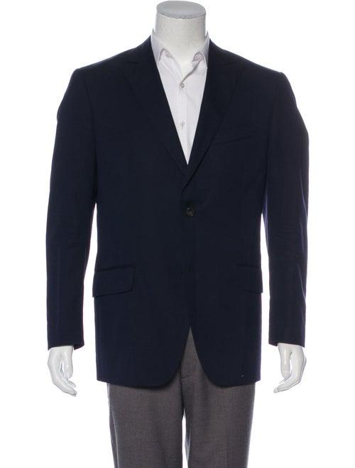 Etro Virgin Wool Jacquard Blazer black