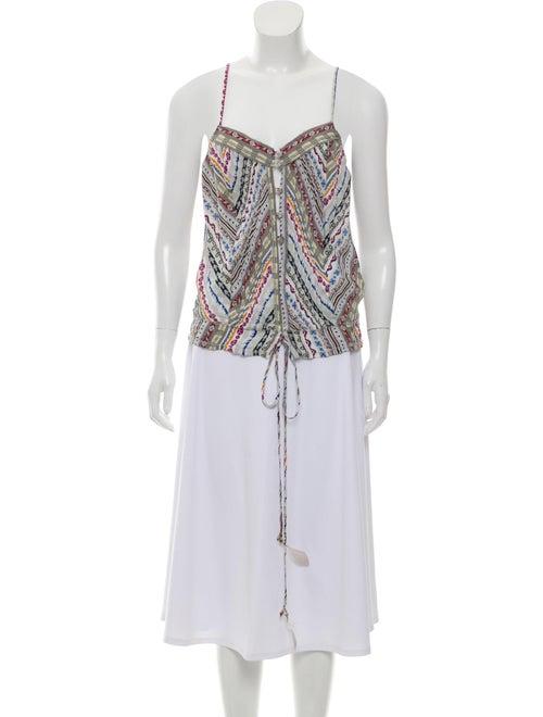 Etro Silk Printed Blouse White