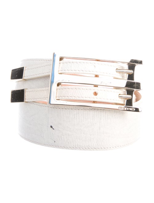 Etro Leather Waist Belt gold
