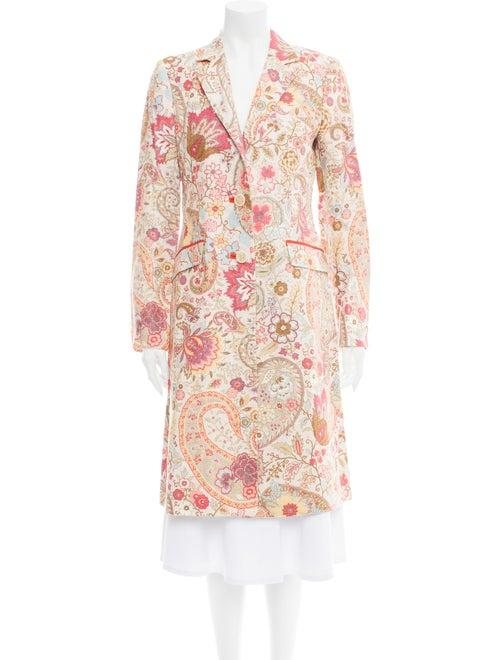 Etro Linen Paisley Print Evening Jacket
