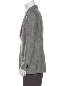 Etro Plaid Linen Blazer