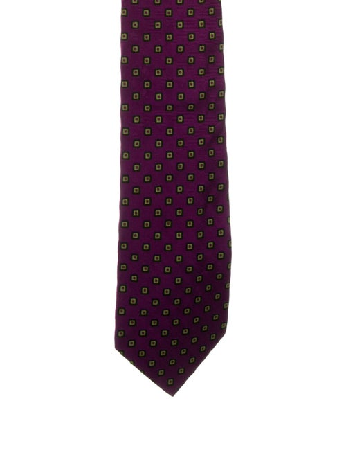 Etro Silk Patterned Tie violet