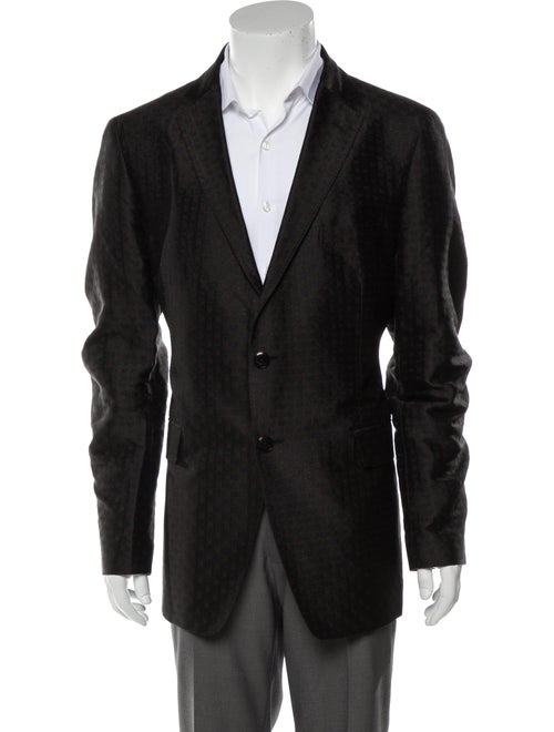 Etro Paisley Silk Sport Coat black