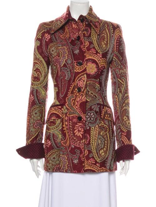 Etro Paisley Print Jacket Red