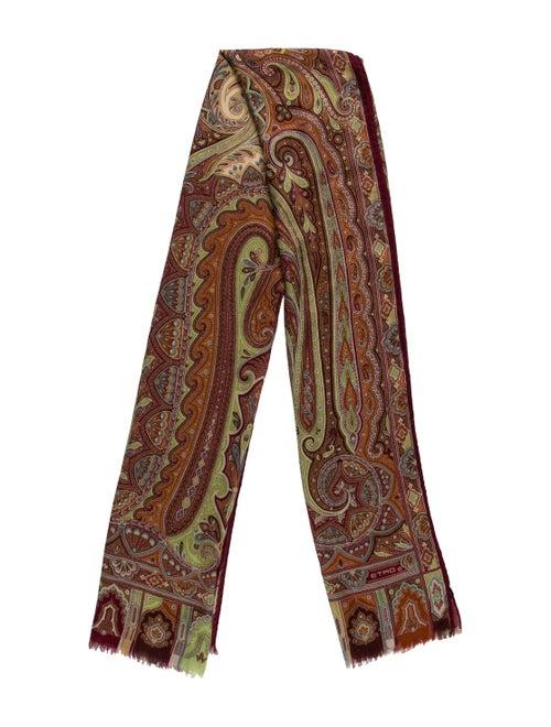 Etro Silk & Wool Scarf Beige