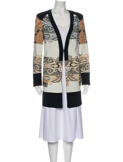 Etro Paisley Print Evening Jacket White
