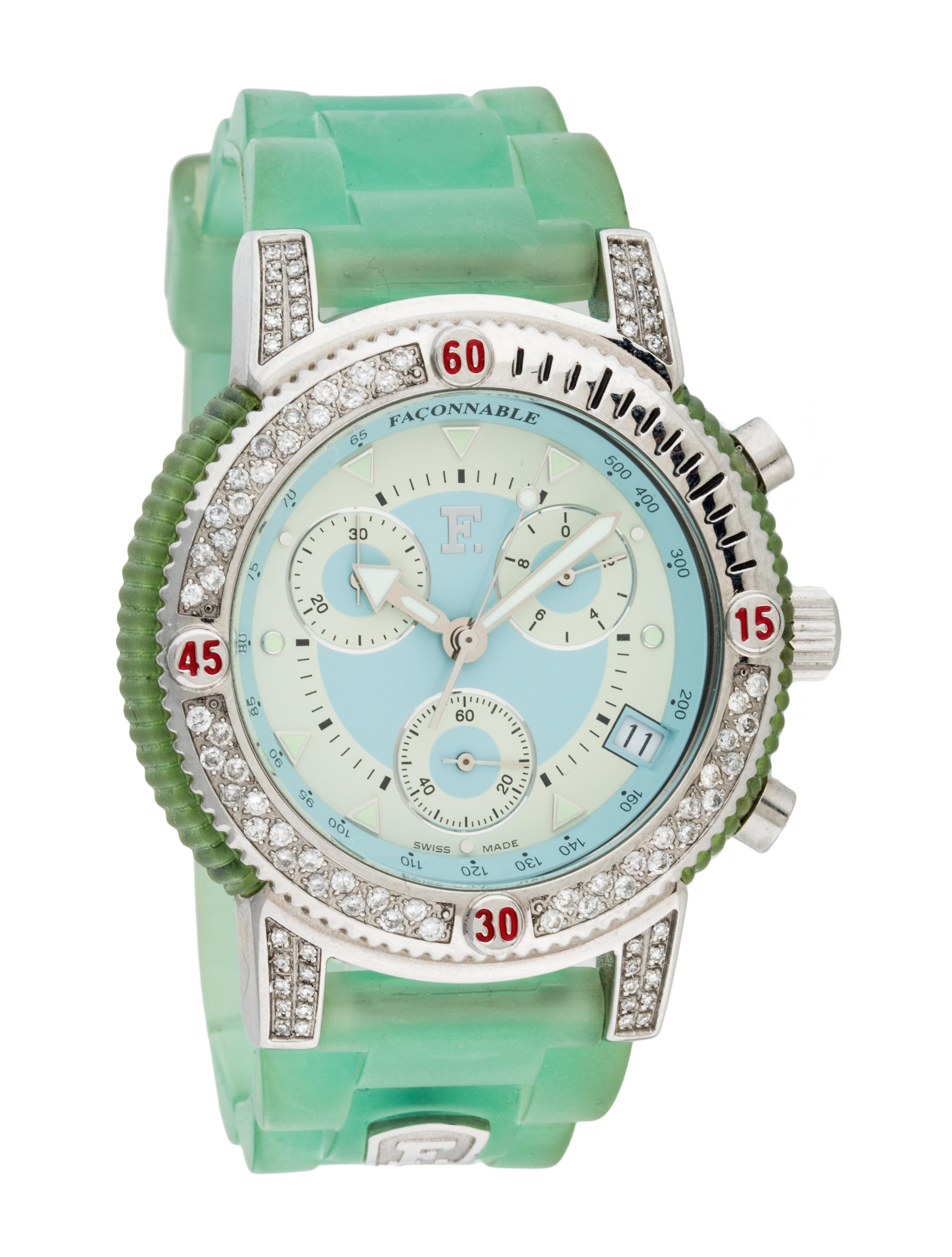 Fa onnable facomarine diamond watch strap fac20026 for Diamond watches