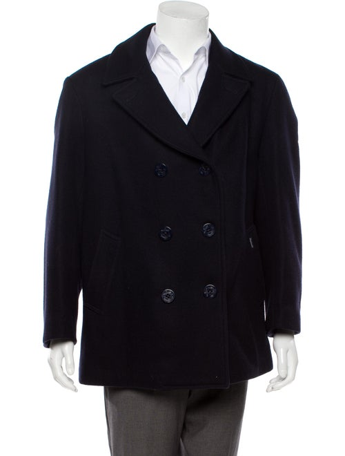 Façonnable Wool Peacoat navy