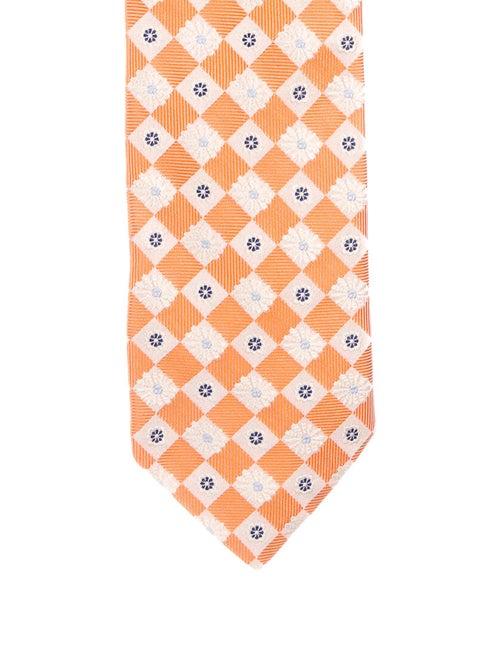 Façonnable Silk Jacquard Tie orange