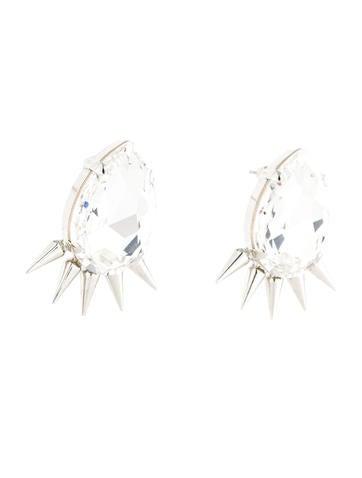 Crystal Spike Earrings