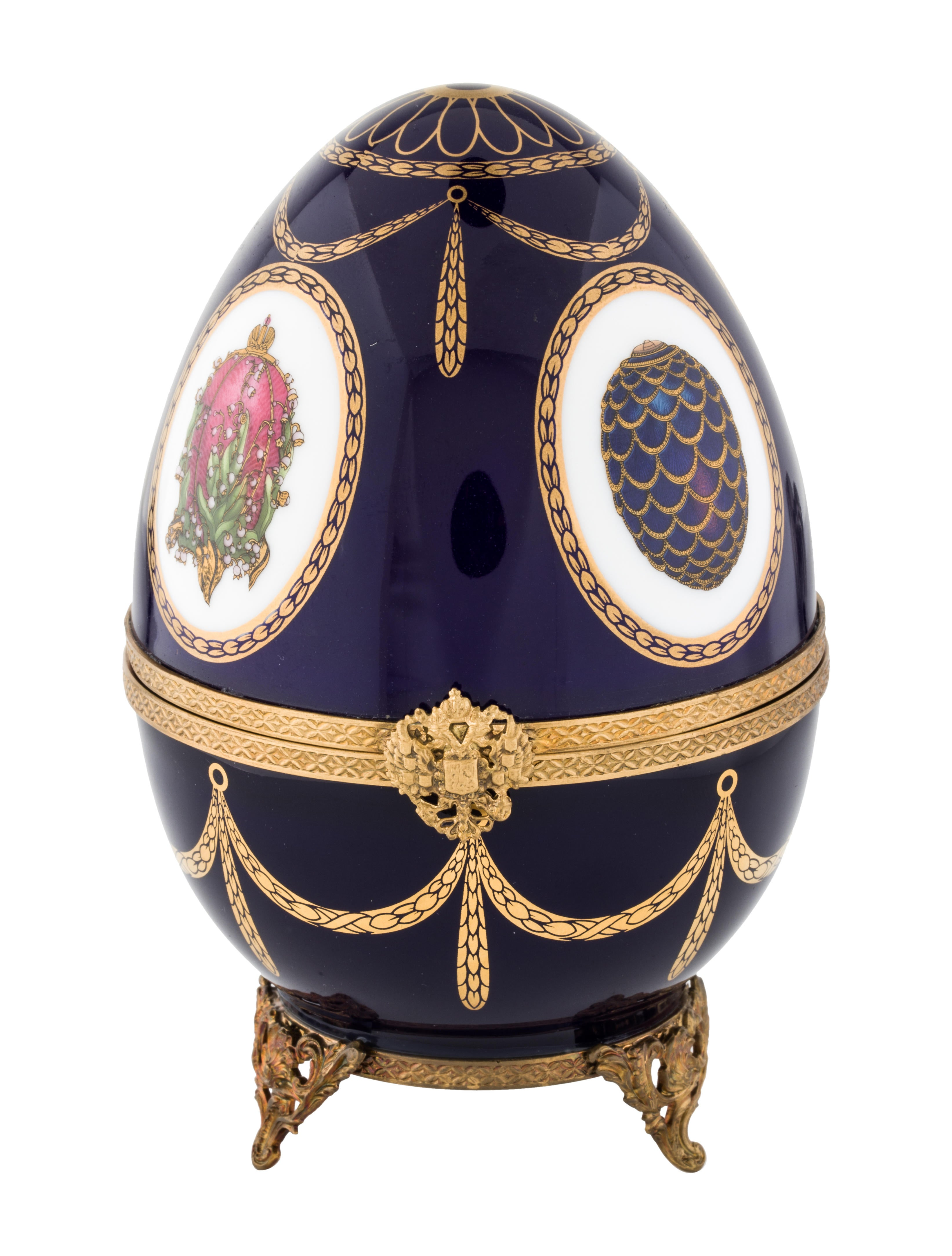 Faberg imperial swan egg music box decor and for Imperial home decor