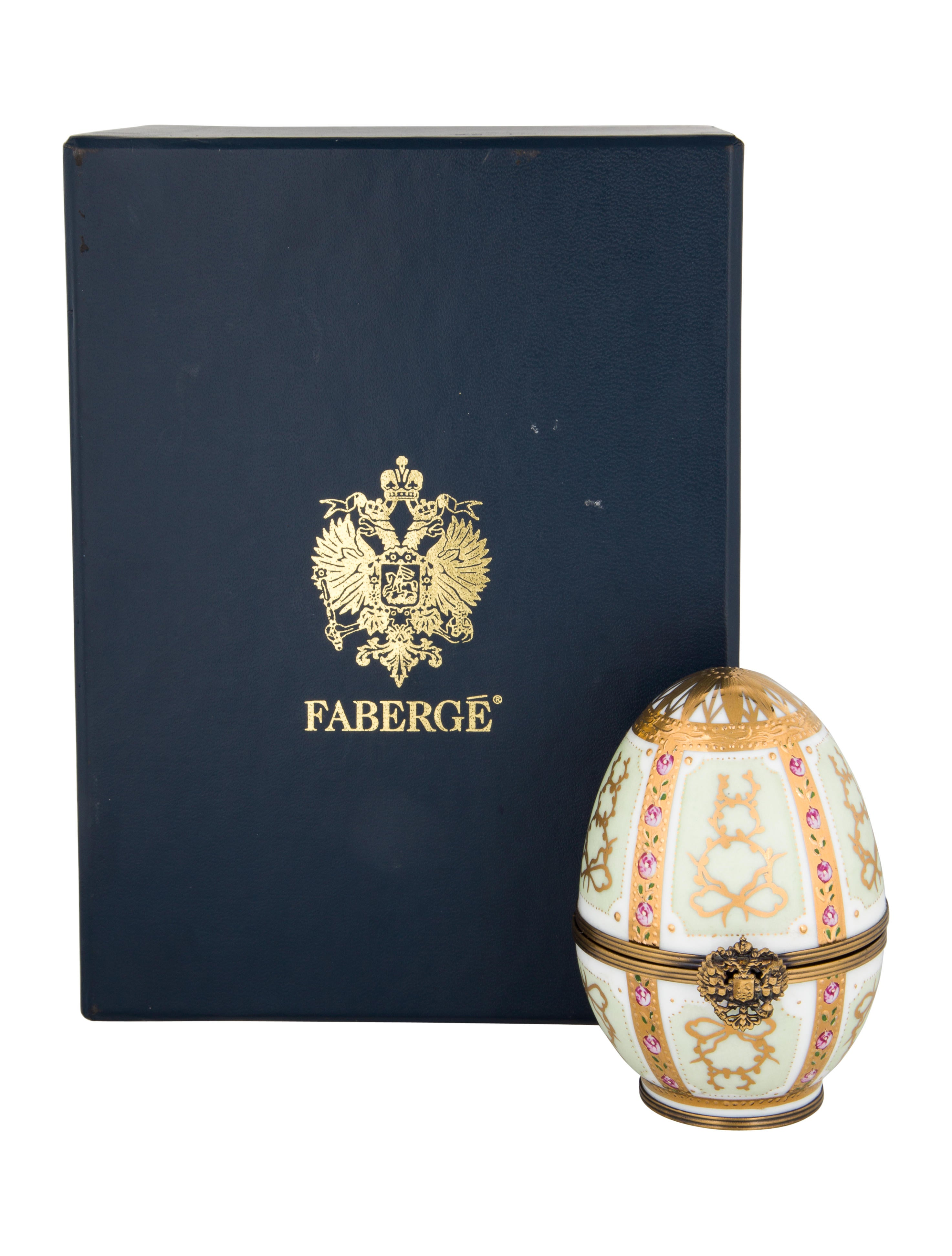 Fabergé Porcelain Limoges Hand-Painted Egg - Decor And Accessories ...