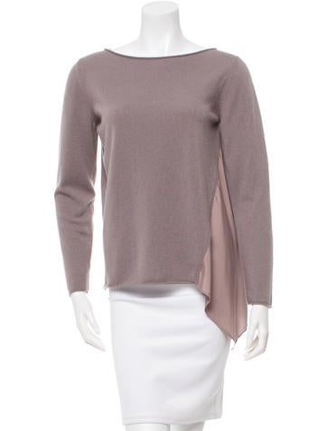 Fabiana Filippi Silk-Trimmed Cashmere Sweater None