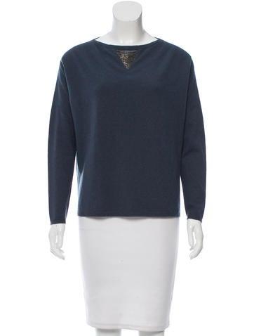 Fabiana Filippi Embellished Bateau Neck Sweater None