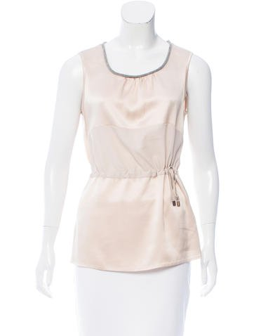 Fabiana Filippi Contrasted Sleeveless Top None