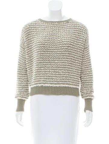 Fabiana Filippi Fringe Chevron Sweater None