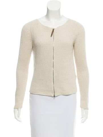 Fabiana Filippi Zip-Up Knit Sweater None