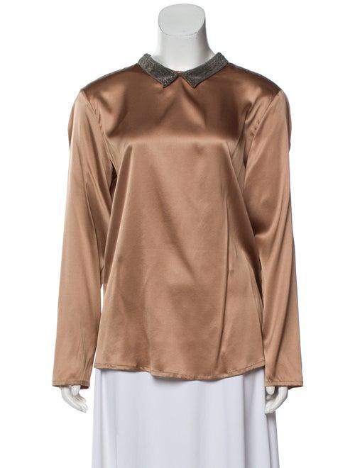 Fabiana Filippi Silk Long Sleeve Blouse