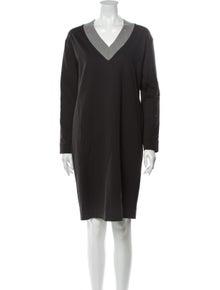 Fabiana Filippi V-Neck Knee-Length Dress w/ Tags