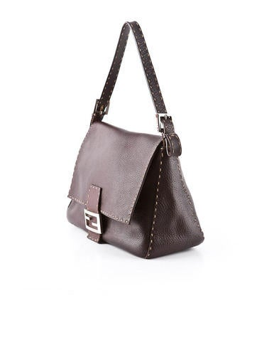 Pebbled Leather Shoulder Bag