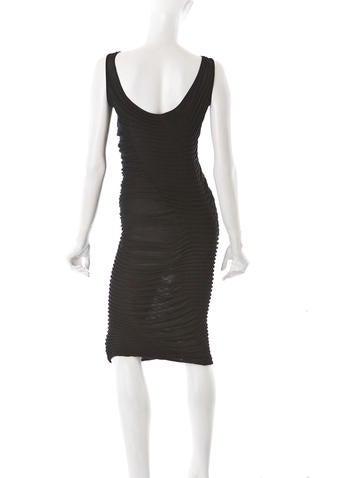 Ruched Cotton Sheath Dress