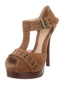 22342f43f Fendi. Suede Platform Sandals