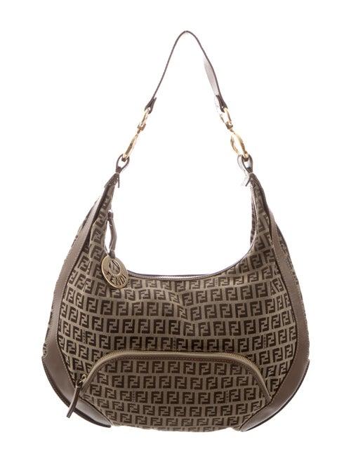 112f776cb939 Fendi Zucchino Shoulder Bag - Handbags - FEN101656