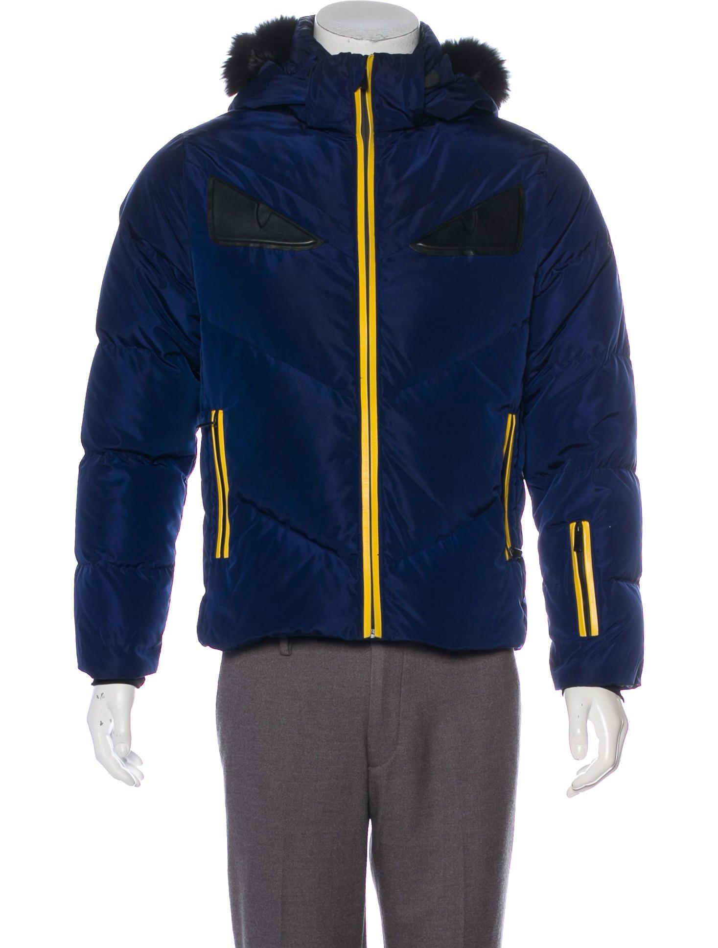 8ede035ca872 Fendi Fur-Trimmed Monster Eyes Jacket - Clothing - FEN101838