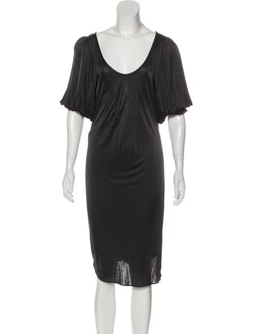 Fendi Midi Knit Dress Black
