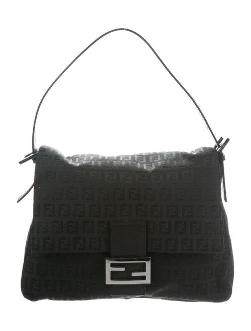 Fendi FF Logo Mama Forever Shoulder Bag Black