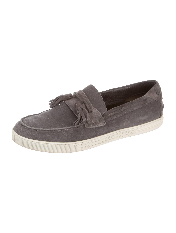 Fendi Suede Boat Shoes - Shoes