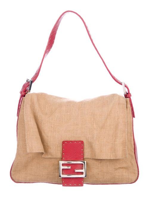 Fendi Linen Mama Forever Bag brown