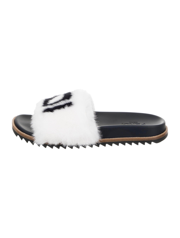 Fendi FendiMania Mink Fur Slide Sandals