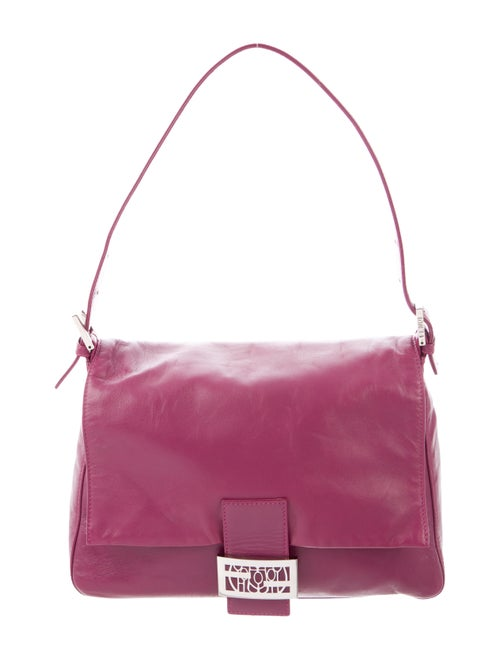 Fendi Leather Mama Forever Bag Magenta