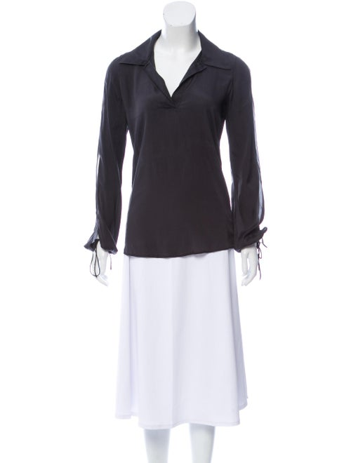Fendi Silk Long Sleeve Blouse
