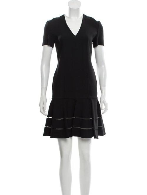 Fendi Flared Mini Dress Black
