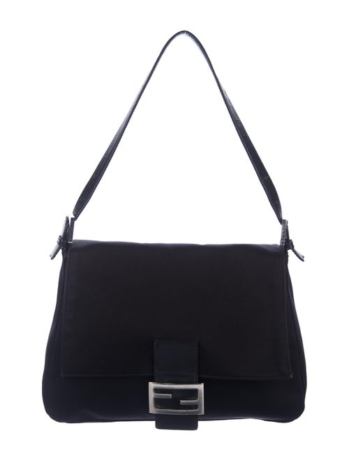 Fendi Vintage Neoprene Mama Forever Bag Black