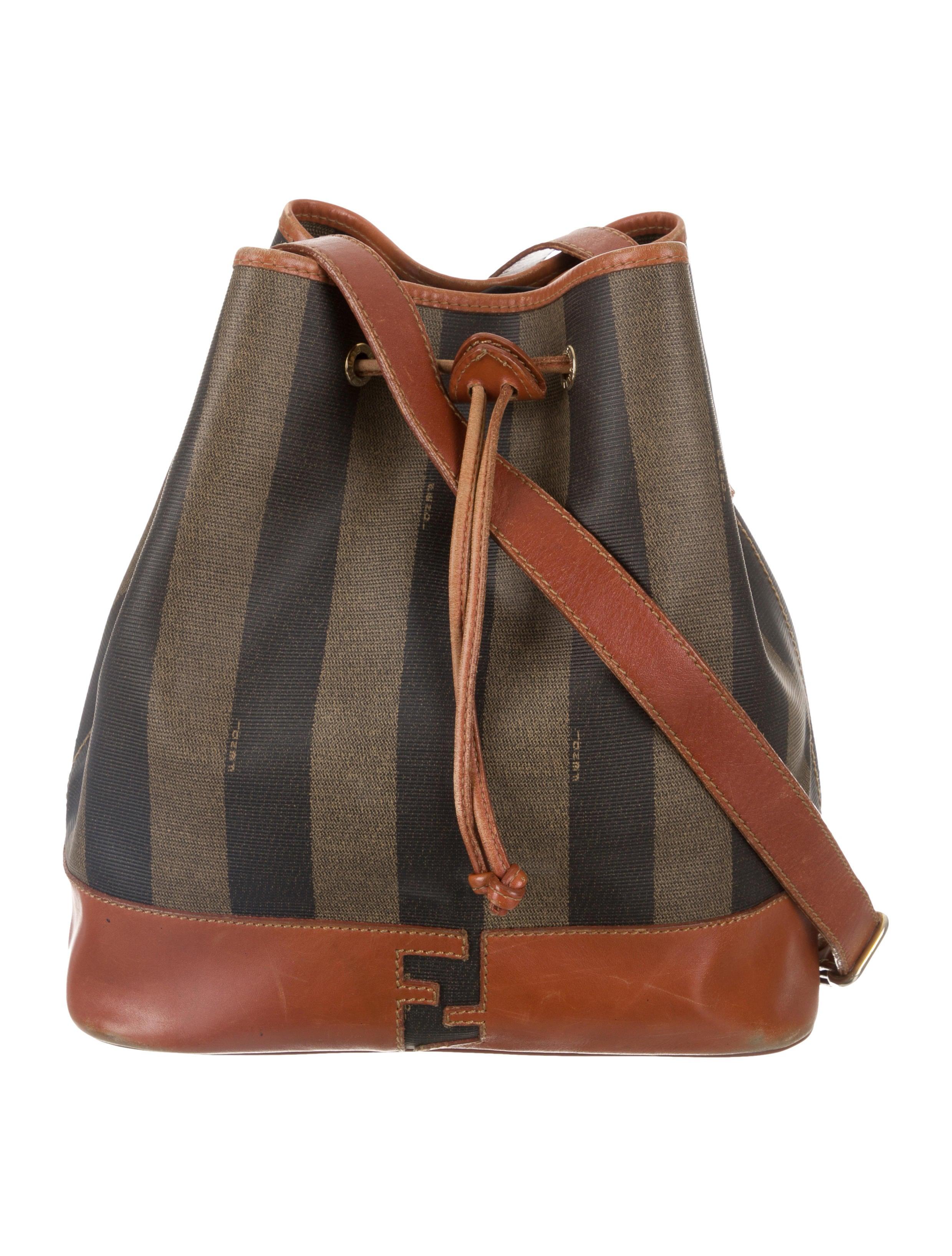 Fendi Vintage Pequin Bucket Bag Handbags Fen125419 The Realreal