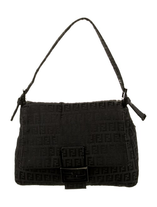 Fendi Zucchino Mama Forever Bag Black