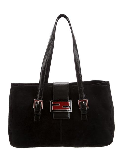 Fendi Vintage Suede Mama Forever Bag Black