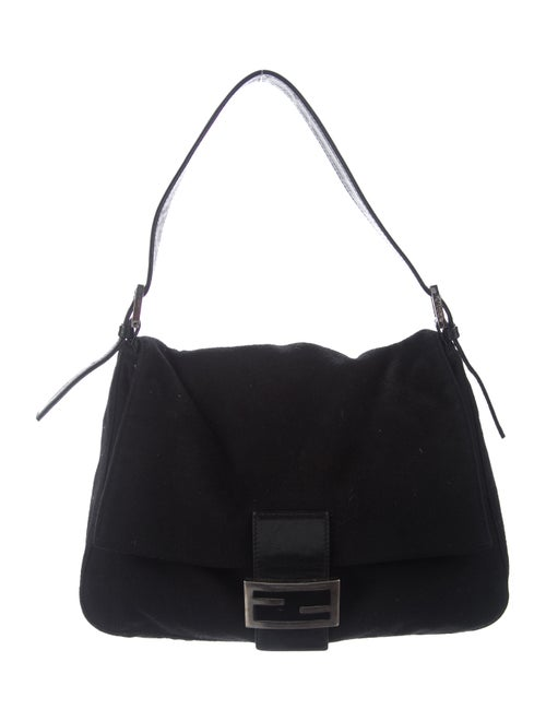 Fendi Cashmere Mama Forever Bag Black