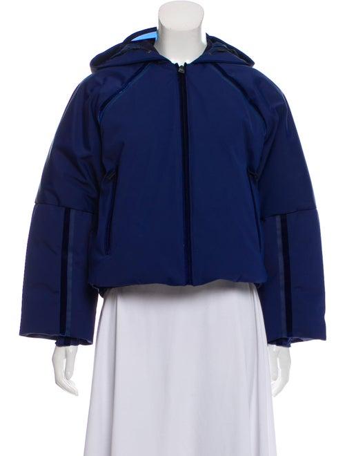 Fendi Hooded Velvet-Trimmed Jacket