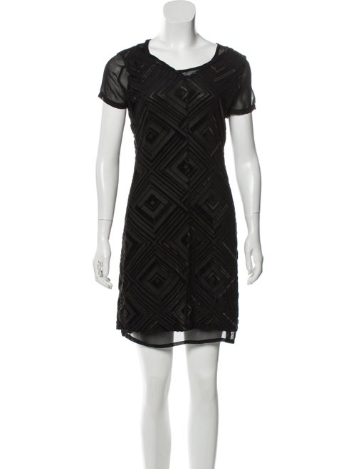 Fendi Devoré Mini Dress Black