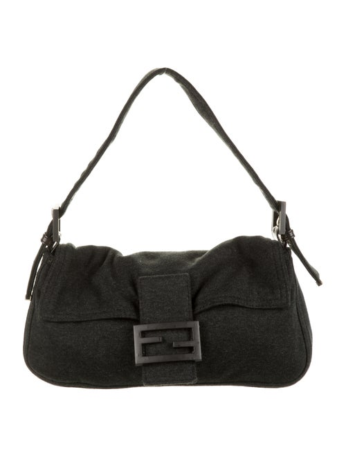 Fendi Jersey Knit Baguette black