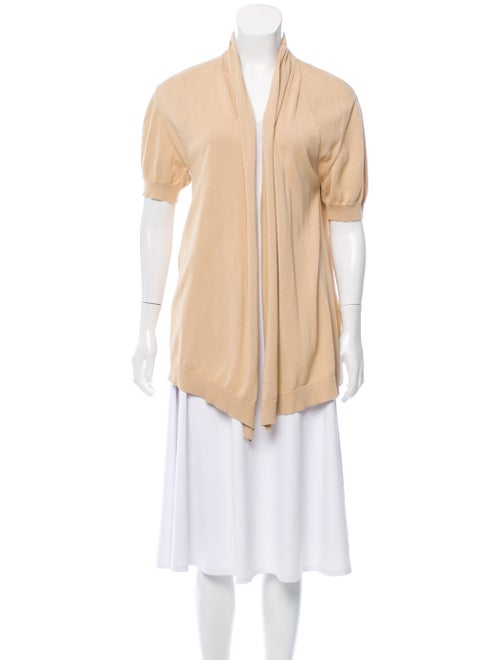 Fendi Lightweight Knit Cardigan Beige