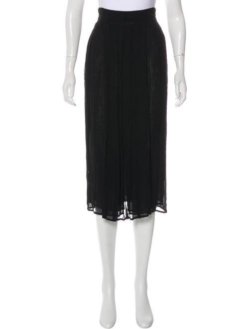 Fendi Pleated Midi Skirt Black