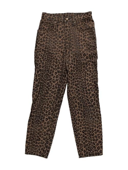 Fendi Animal Print Skinny Leg Pants Brown - image 1